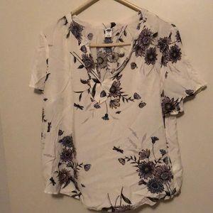 Flowery blouse